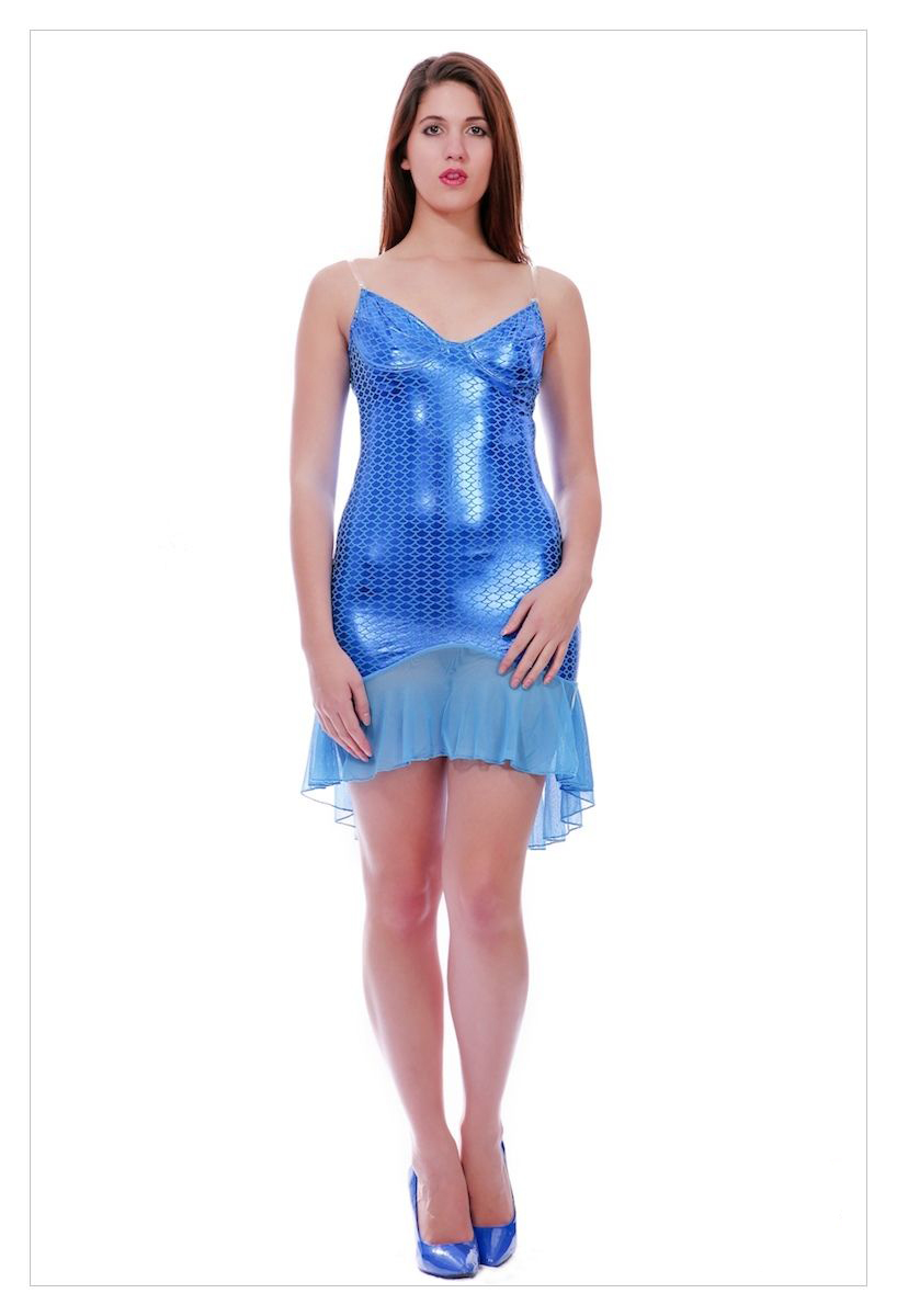 Adult Mermaid Fancy Dress Costume Atlantis Sexy Ladies Womens Female-523