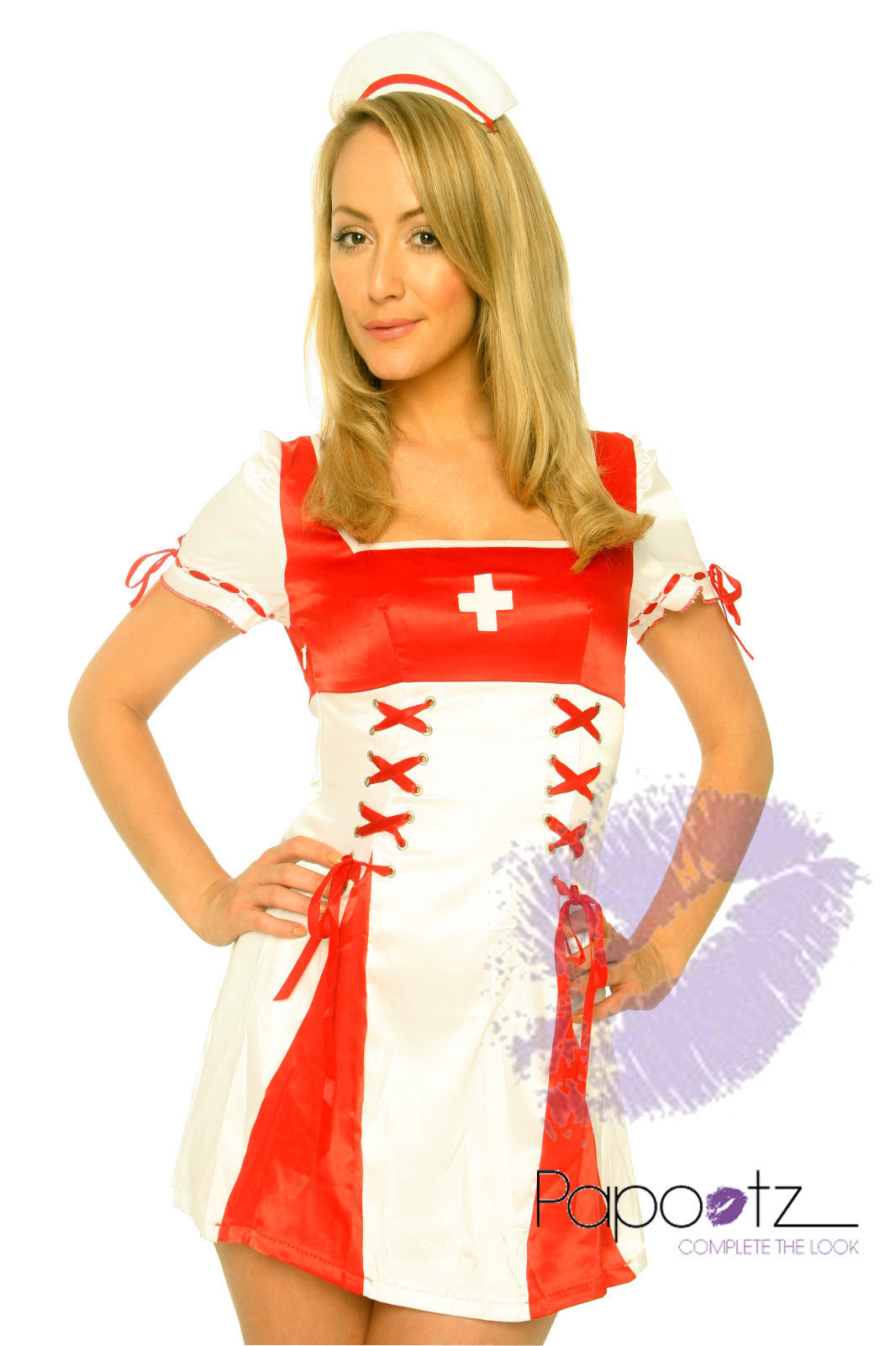 Nurse Outfit Hospital Ladies Fancy Dress Costume-0
