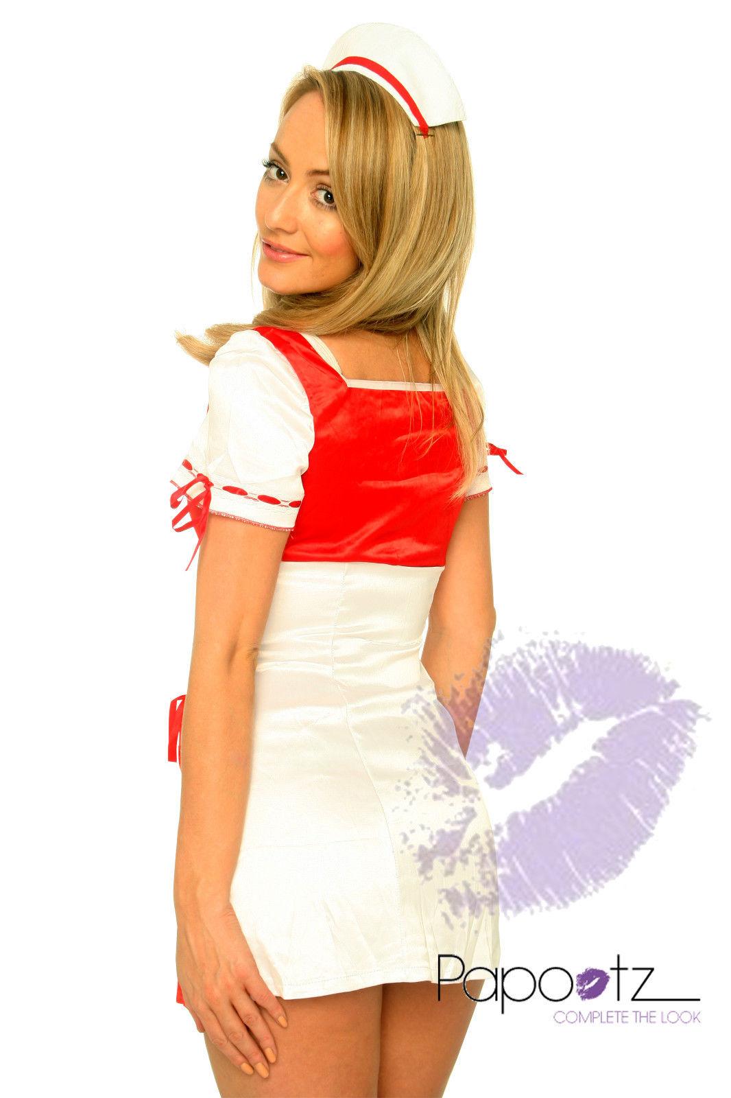 Nurse Outfit Hospital Ladies Fancy Dress Costume-804