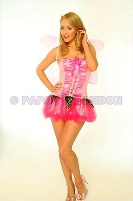 FANCY DRESS COSTUME - FUN PINK FAIRY / ANGEL HEN NIGHT-0