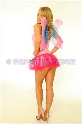 FANCY DRESS COSTUME - FUN PINK FAIRY / ANGEL HEN NIGHT-684