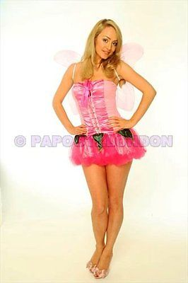FANCY DRESS COSTUME - FUN PINK FAIRY / ANGEL HEN NIGHT-683