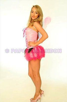 FANCY DRESS COSTUME - FUN PINK FAIRY / ANGEL HEN NIGHT-686