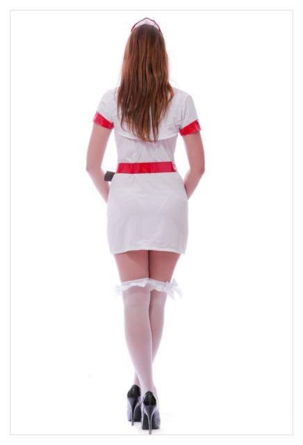 Adult Woman's Hospital Honey Sexy White Nurse Fancy Dress Costume-789
