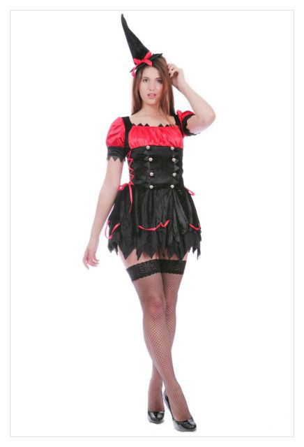 Mystical Spellbound Witches Halloween Fancy Dress Ladies Witch Costume Outfit-713