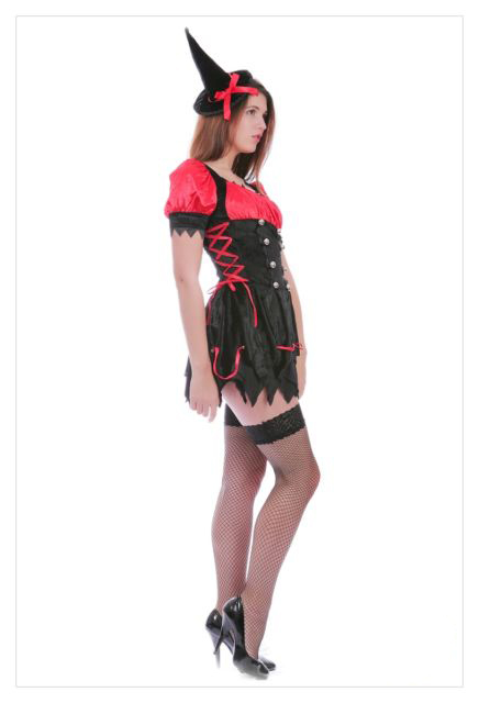 Mystical Spellbound Witches Halloween Fancy Dress Ladies Witch Costume Outfit-714