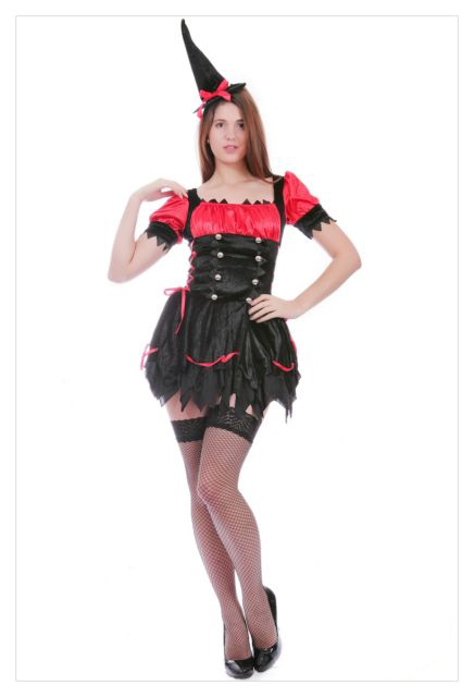 Mystical Spellbound Witches Halloween Fancy Dress Ladies Witch Costume Outfit-715