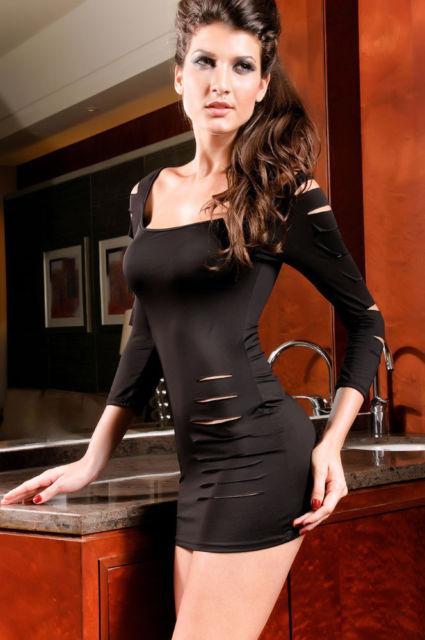 Black Barracuda Club Dress-568