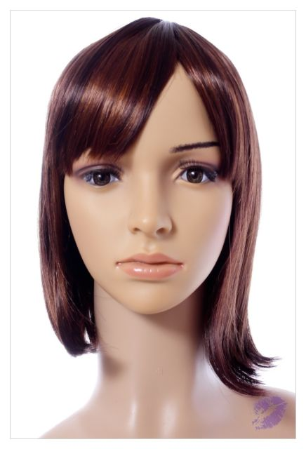 Golden Brown Straight Hair 14 Inch In Length Synthetic Hair Wig