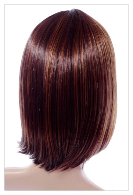 Golden Brown Straight Hair 14 Inch In Length Synthetic Hair Wigs-648