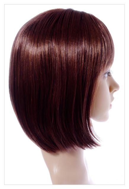 Boycut Style Short Dark Brown Auburn Lady Wig! Wigs UK-639