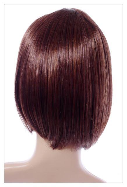 Boycut Style Short Dark Brown Auburn Lady Wig! Wigs UK-640
