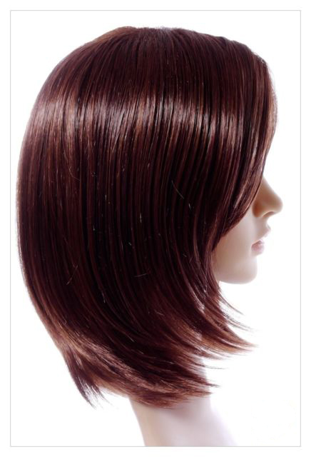 Mahogany Straight Haired Synthetic Wig 16 Inch Lenth-623