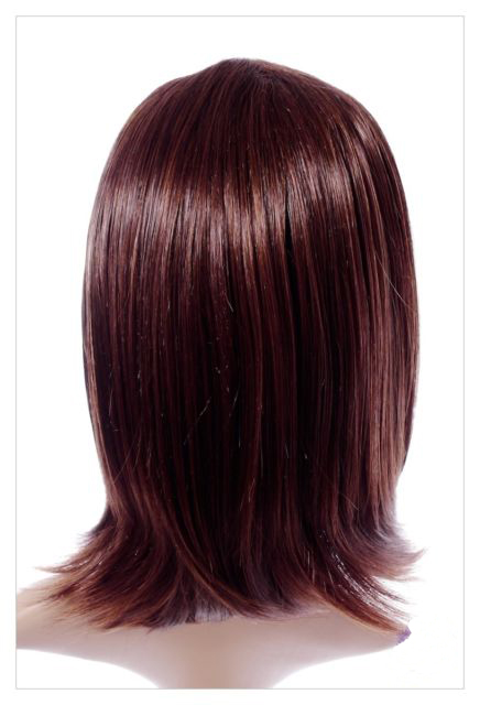 Mahogany Straight Haired Synthetic Wig 16 Inch Lenth-624