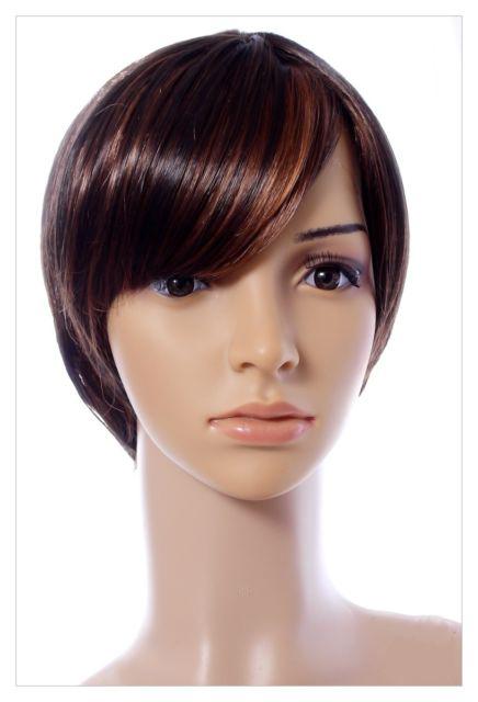ladie's short brown wig