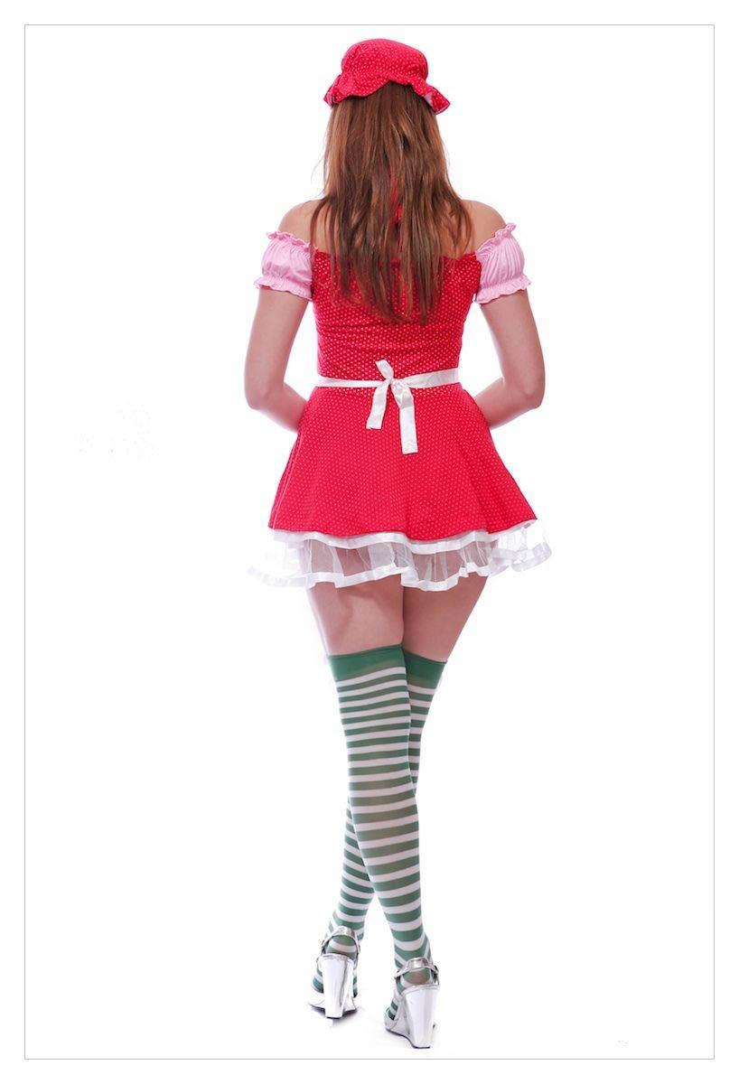 Ladies Strawberry Shortcake Fancy Dress Outfit-1158