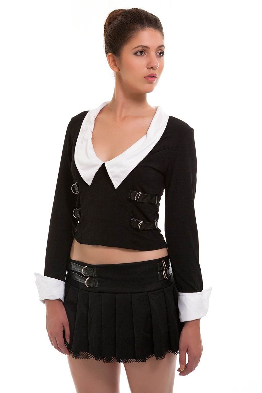 Sexy Highschool School Girl Uniform Fancy Dress Costume-1334