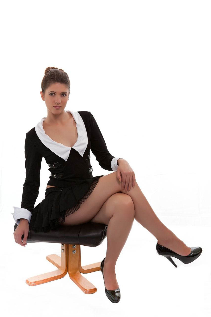 Sexy Highschool School Girl Uniform Fancy Dress Costume-1336