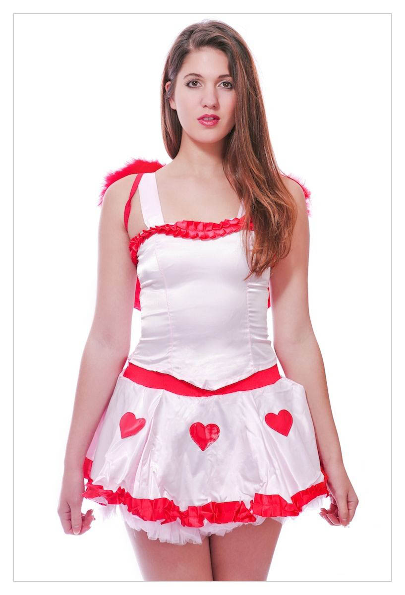 Fancy Dress Costume # Sexy Valentings Day Cupid Outfit-1121