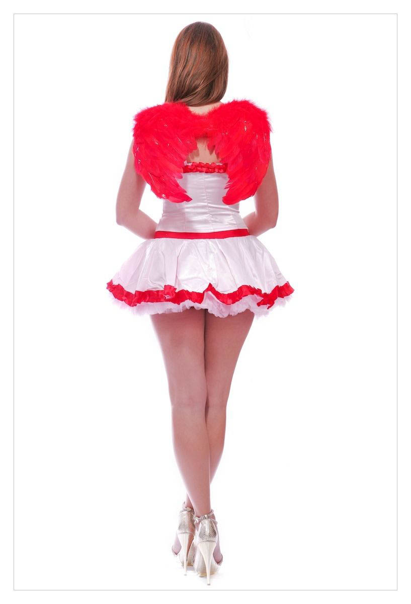 Fancy Dress Costume # Sexy Valentings Day Cupid Outfit-1123