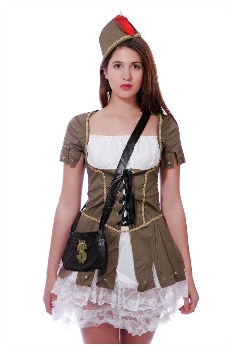 Maid Marion (Robin Hood) Medieval Fancy Dress Costume-1199