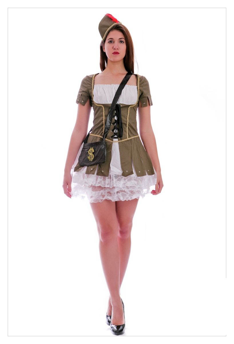 Maid Marion (Robin Hood) Medieval Fancy Dress Costume-0