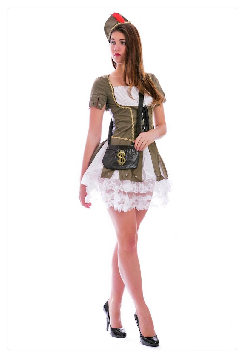 Maid Marion (Robin Hood) Medieval Fancy Dress Costume-1196