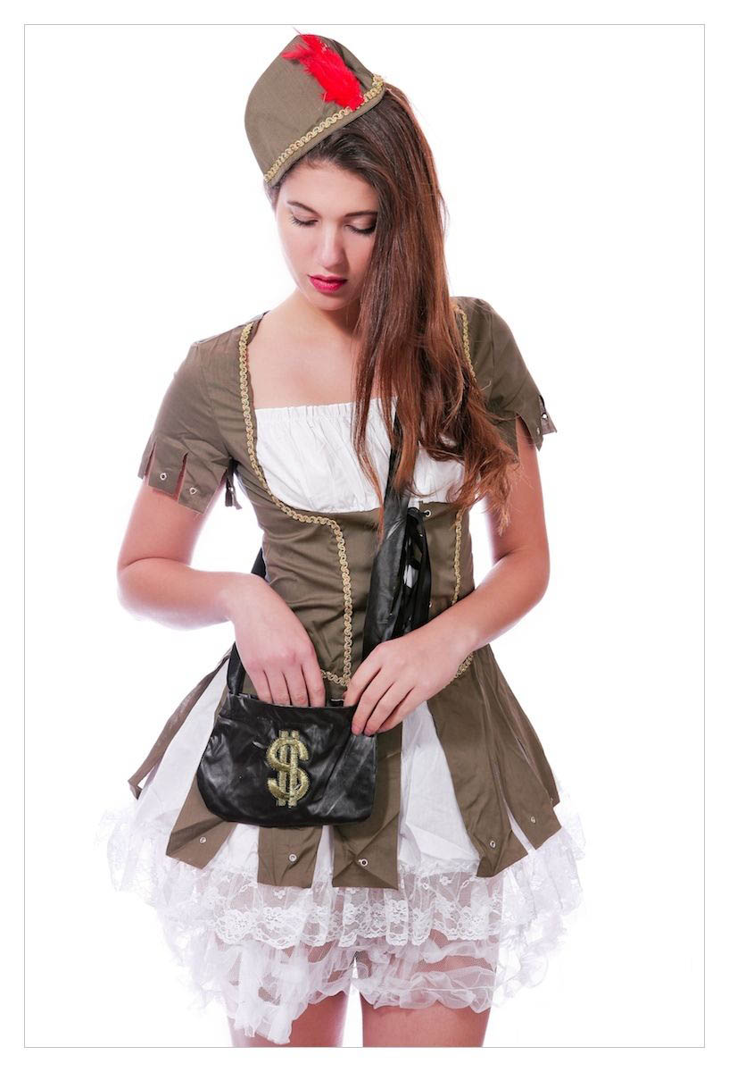 Maid Marion (Robin Hood) Medieval Fancy Dress Costume-1195