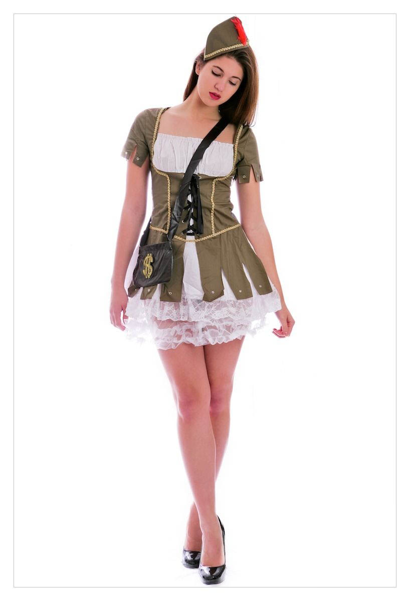 Maid Marion (Robin Hood) Medieval Fancy Dress Costume-1194
