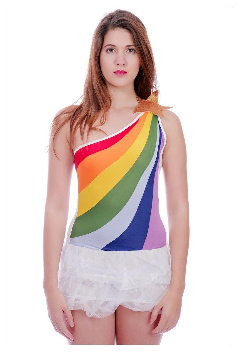 Ladies Hippy 60's 70's Tutu Fancy Dress Costume-0