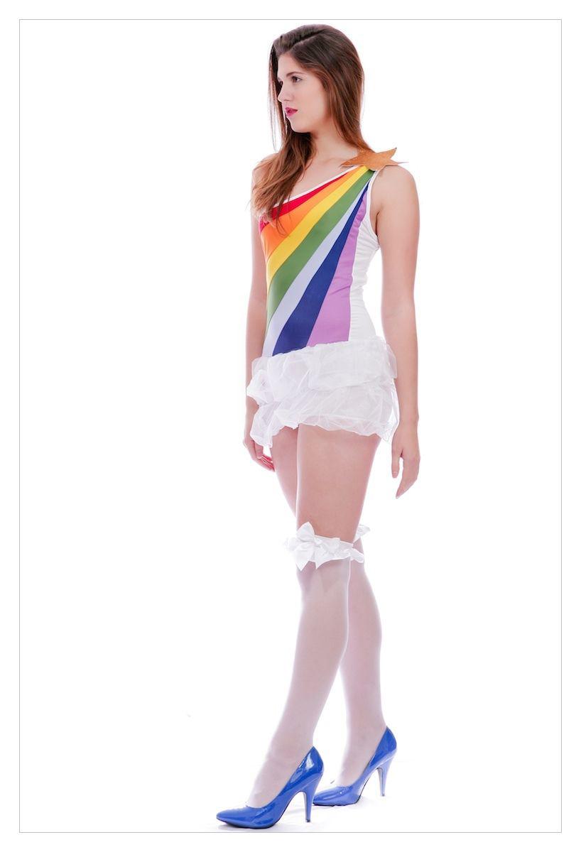 Ladies Hippy 60's 70's Tutu Fancy Dress Costume-1271