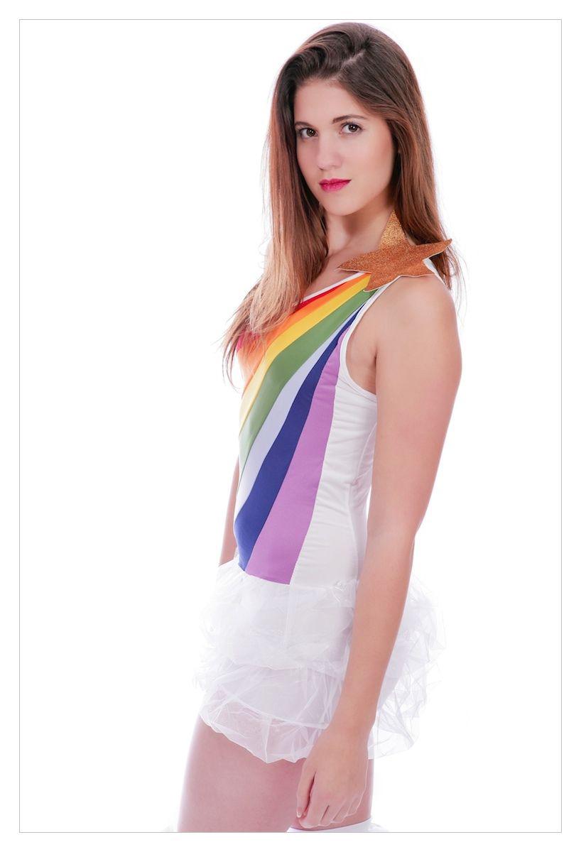 Ladies Hippy 60's 70's Tutu Fancy Dress Costume-1274