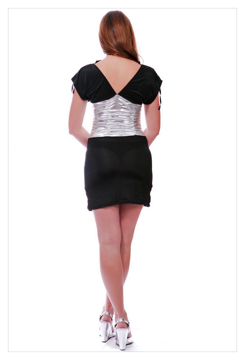Sexy clubwear deep plunge halterneck mini dress-1750