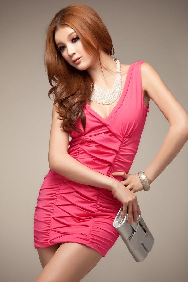 Womens Ladies Celeb Slimming Effet Contrasst Bodycon Dress-0