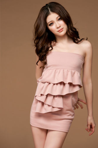 Sexy Short Pink Mini Dress-0