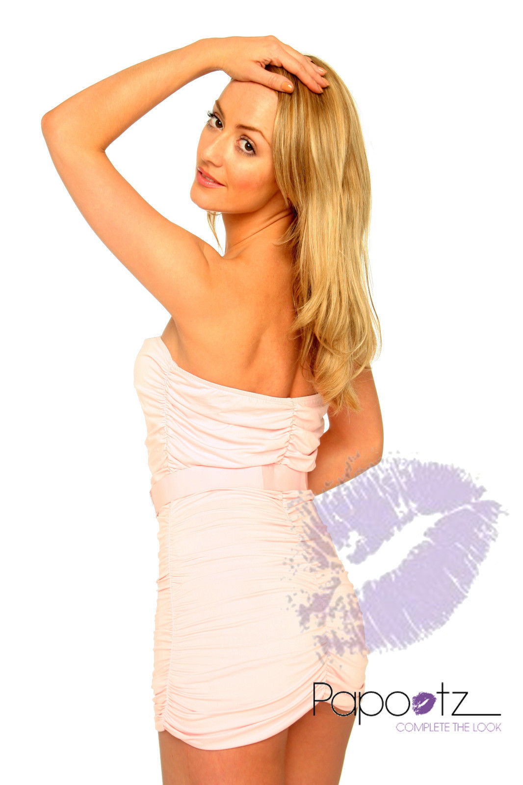 New women's girl's Strapless Cocktail Party Club evening Races Dress-1699