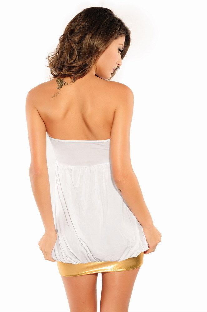 Summer Clubwear White Tube Dress