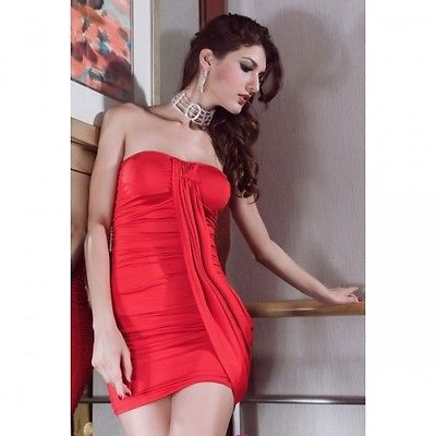 Sexy Mini Dress Red Club Party Outfit-1464