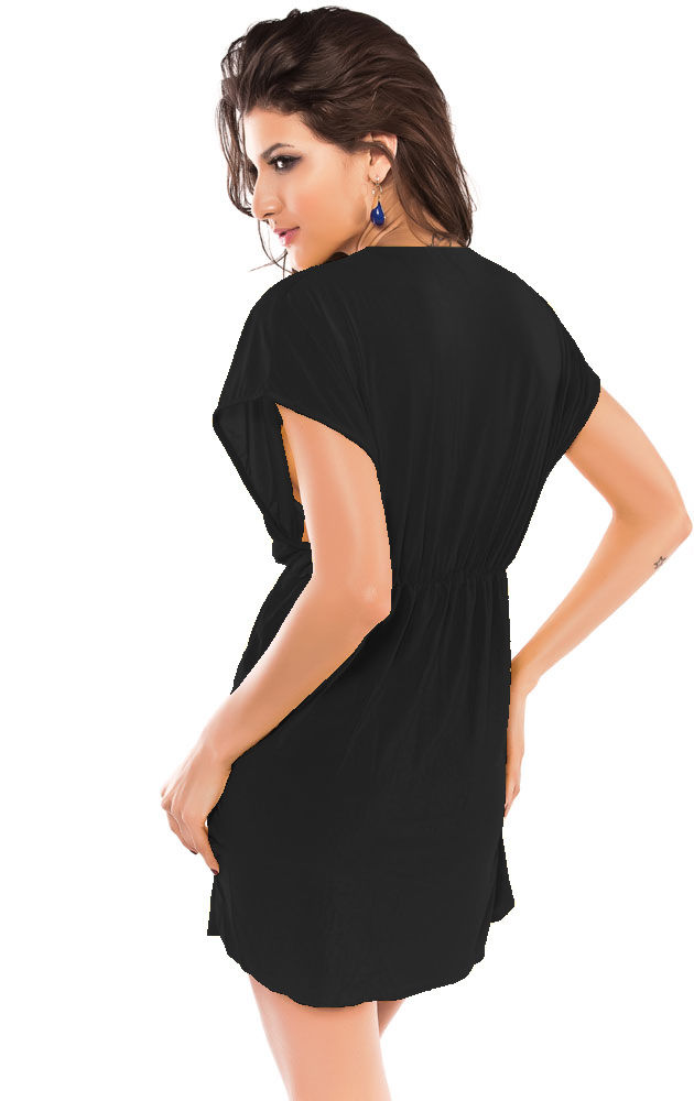 Black Classic Beach Cover-up-1622
