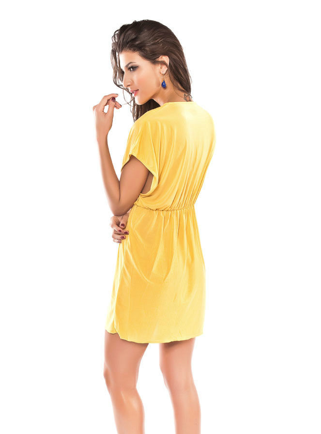 Yellow Classic Beach Cover-up-1599