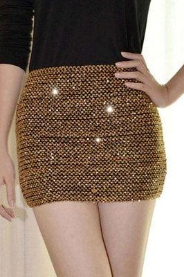Elasticity Sequins Miniskirt-0