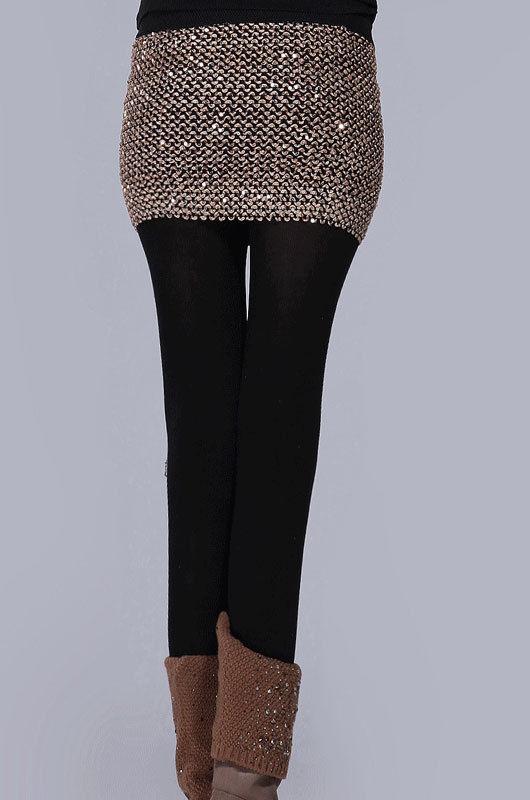 Elasticity Sequins Miniskirt-1448