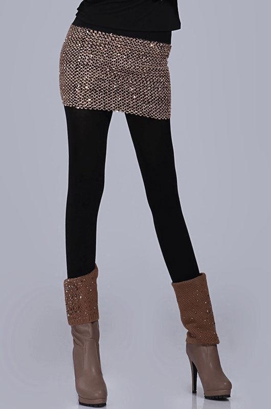 Elasticity Sequins Miniskirt-1450