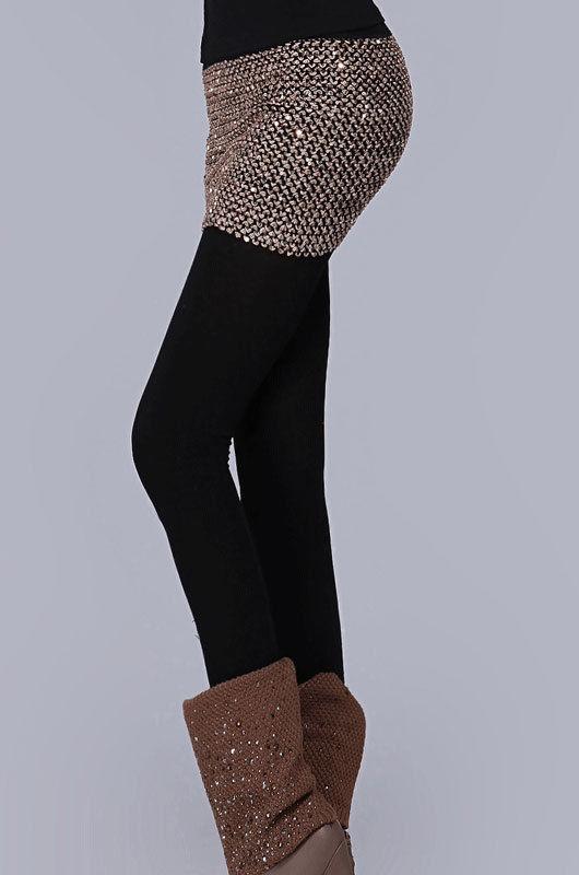 Elasticity Sequins Miniskirt-1449