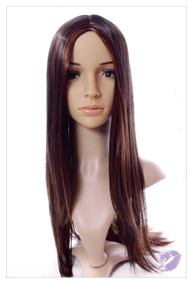 Stunning XXX Long Dark Coffee Brown Lady Wig! UK-1590