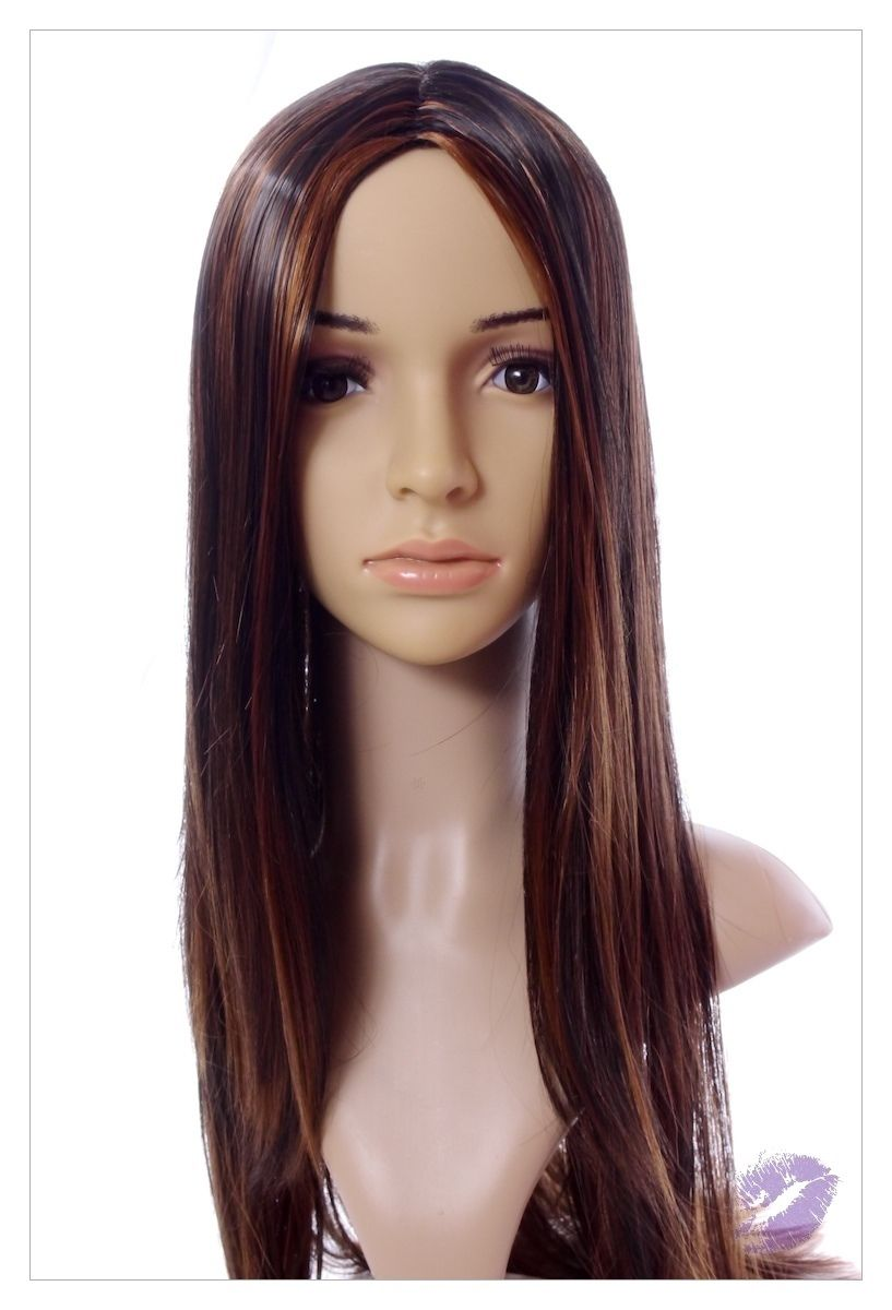 Stunning XXX Long Dark Coffee Brown Lady Wig! UK-0