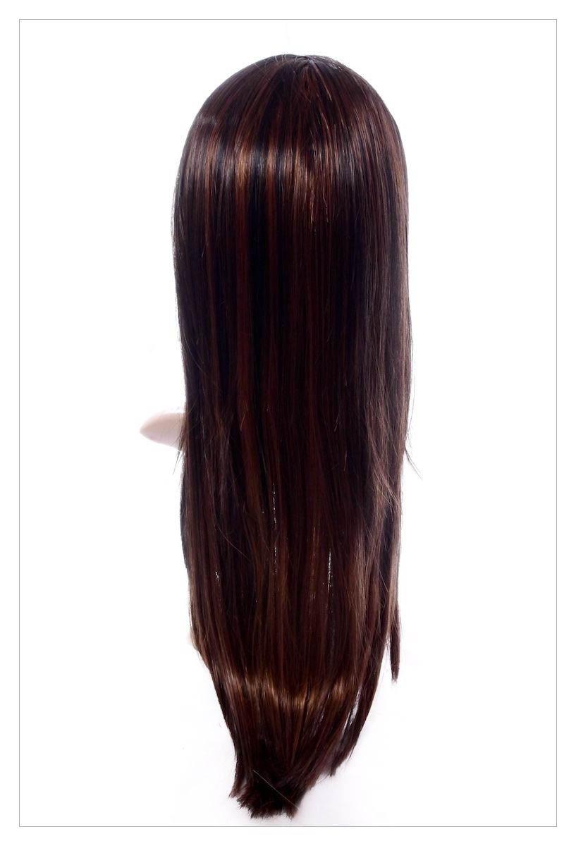 Stunning XXX Long Dark Coffee Brown Lady Wig! UK-1588