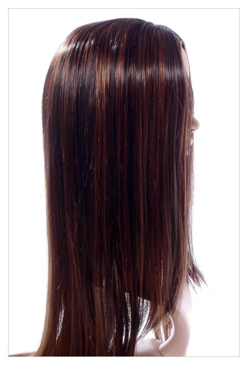 Stunning XXX Long Dark Coffee Brown Lady Wig! UK-1589
