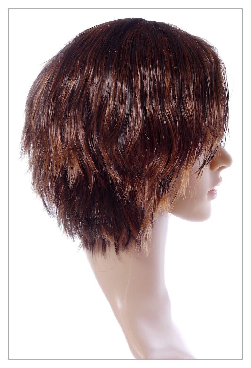 Razor Cut Choc Brown Blonde Faceframe Lady Wig UK-1377