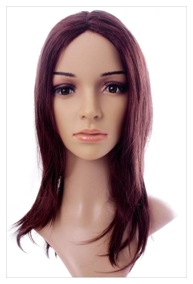 Naturally Straight Hair Synthetic Wig Mahogany Chestnut Shade, Length 22 inch-1633